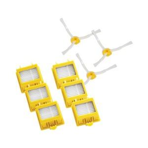Zestaw: 3x2 filtry HEPA, 3 wirujące szczotki boczne