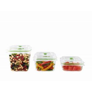 FoodSaver Zestaw pojemników do przechowywania próżniowego FRESH 700ml, 1,2l i 1,8l FFC020X